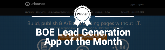 Unbounce – Branching Out Europe Lead Generation App of the Month