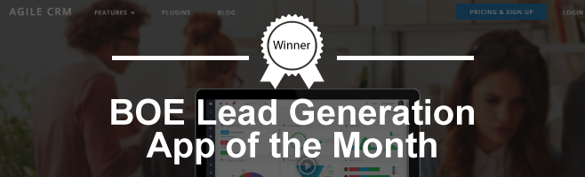 Agile CRM – Branching Out Europe Lead Generation App of The Month