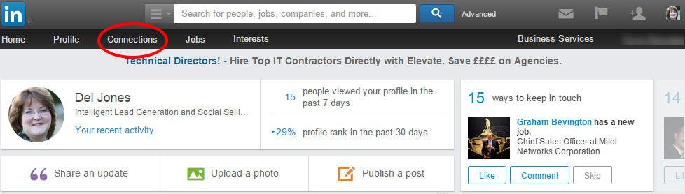 LinkedIn connections export
