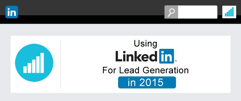Infographic showing how to use LinkedIn for lead generation