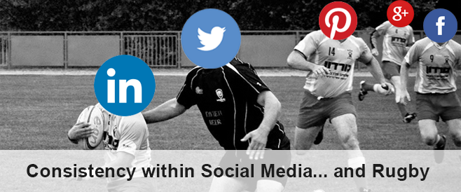 Challenges with social media consistency ………..& rugby